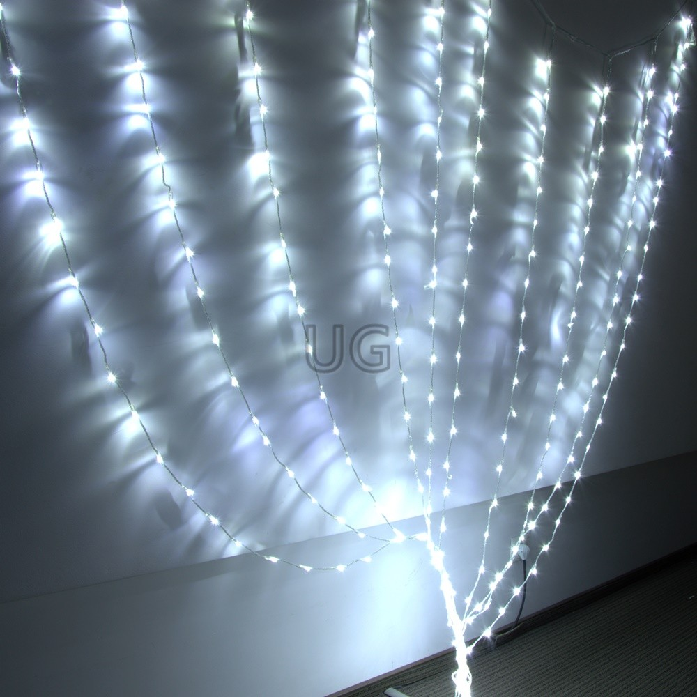 320 LED girlianda Užuolaida- Krioklys 3x3 m CL3
